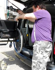 gruetta bagagliaio carrozzine manuali