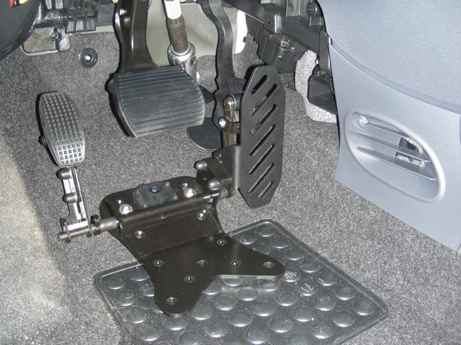 spostamento del pedale acceleratore