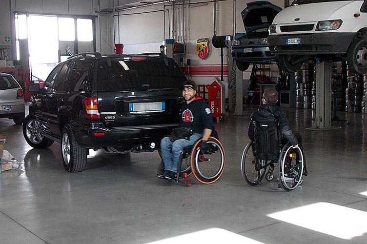 comandi di guida per disabili