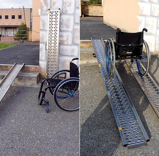 scivoli telescopici per disabili