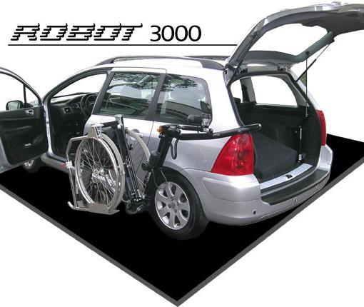 robot carica carrozzina bagagliaio