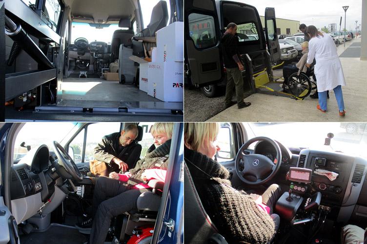 prove di guida per tetraplegici