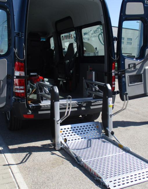 pedane disabili alluminio