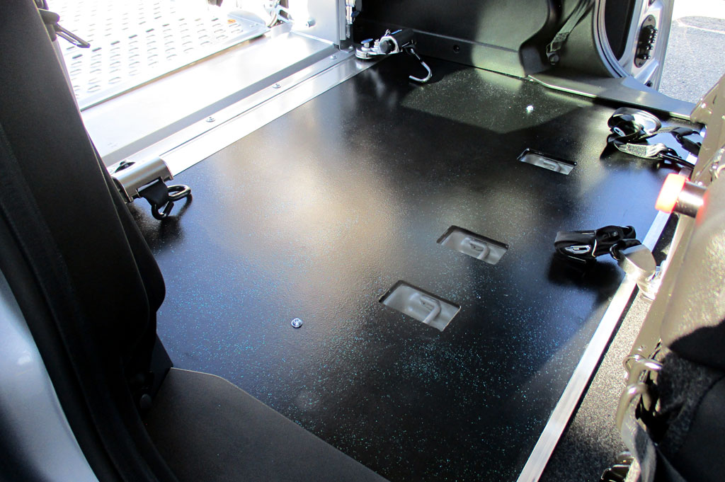 Pianali in alluminio per allestimento furgoni